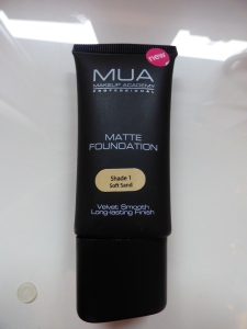 MUA Matte Foundation Shade 1 Soft Sand